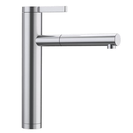 Смеситель Blanco Linee-S с выдвижной лейкой 517592 (нержавеющая сталь с зеркальной полировкой)