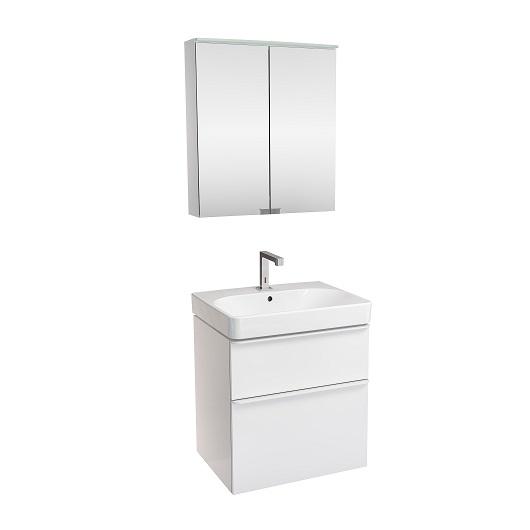 Комплект мебели для ванной Geberit Smyle Square 529.352.00.6 (белый глянец, 60 см)