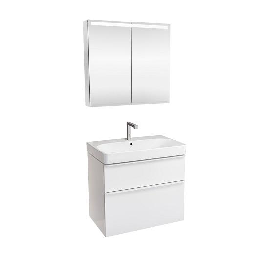 Комплект мебели для ванной Geberit Smyle Square 529.353.00.7 (белый глянец, 75 см)