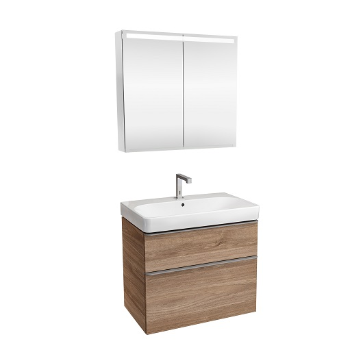 Комплект мебели для ванной Geberit Smyle Square 529.353.JR.7 (орех пекан, 75 см)