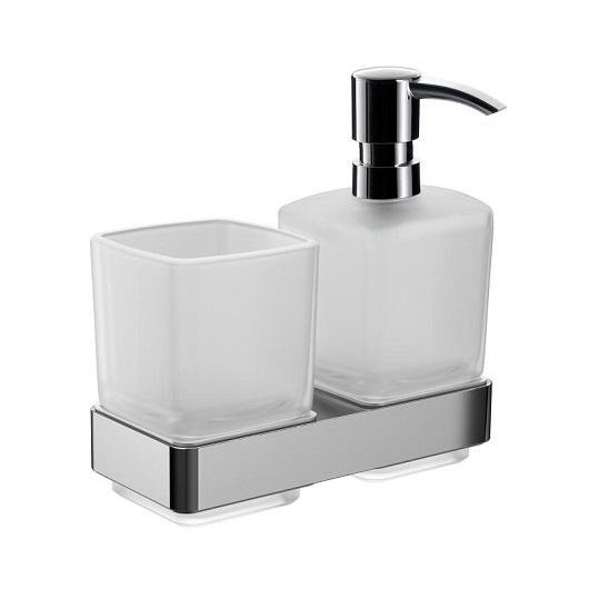 Дозатор жидкого мыла со стаканом настенный Emco Loft 0531 001 00 (053100100)