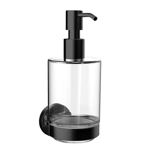 Дозатор жидкого мыла настенный Emco Round 4321 133 00 (432113300) черный