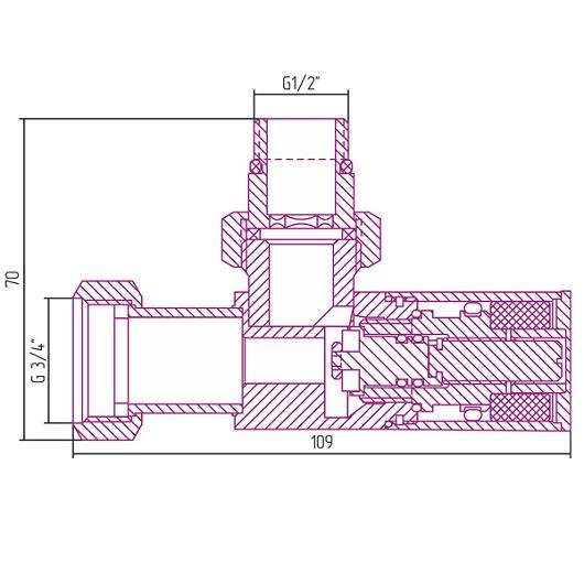 Вентиль угловой Сунержа 00-1400-1234 (G1/2″НР х G3/4″НГ)