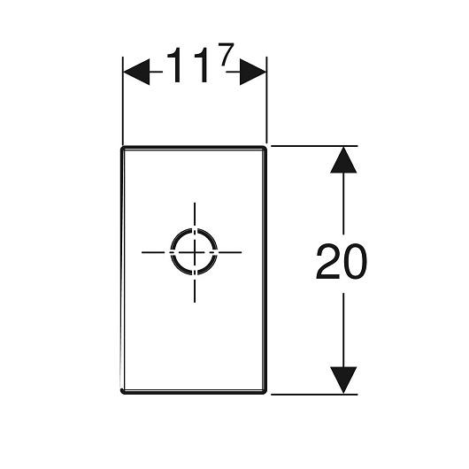 Финишный комплект Geberit 115.416.21.1 для внутристенного сифона