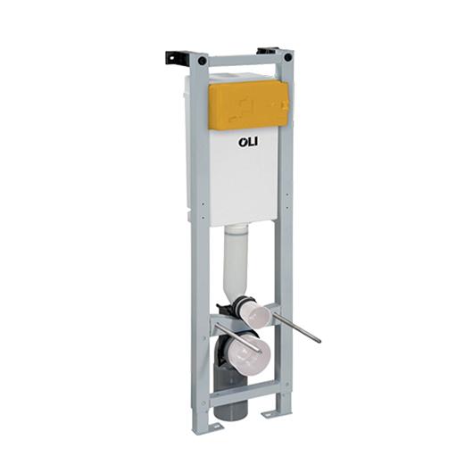 Инсталляция для подвесного унитаза OLI QUADRA Plus Sanitarblock 141945 (пневматика)