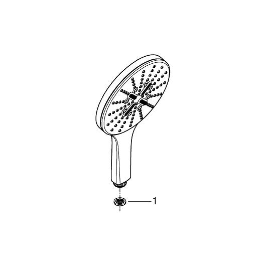 Ручной душ Grohe Rainshower 150 SmartActive 26553000