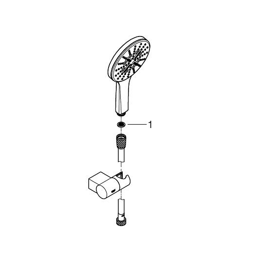 Душевой гарнитур Grohe Rainshower SmartActive 130 26580LS0