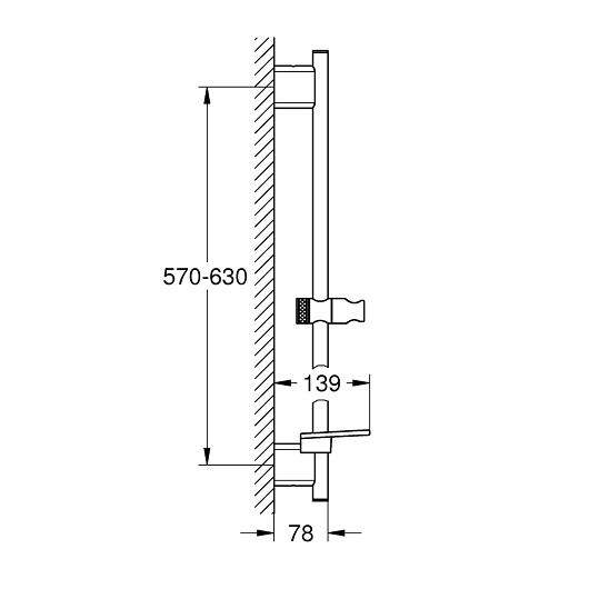 Душевая штанга Grohe Rainshower SmartActive 26602000 (600 мм)
