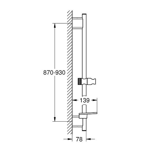Душевая штанга Grohe Rainshower SmartActive 26603EN0 (матовый никель, 900 мм)