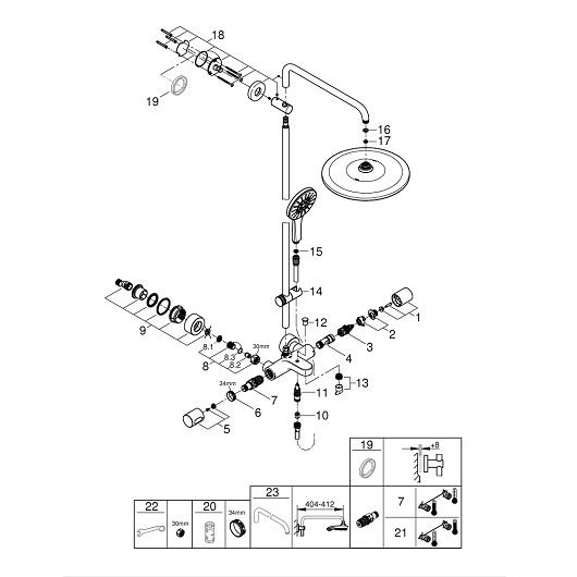 Душевая система Grohe Rainshower SmartActive 310 26657000