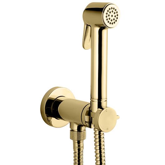 Гигиенический набор Bossini Paloma Brass Mixer Set E37005 OR (золото)
