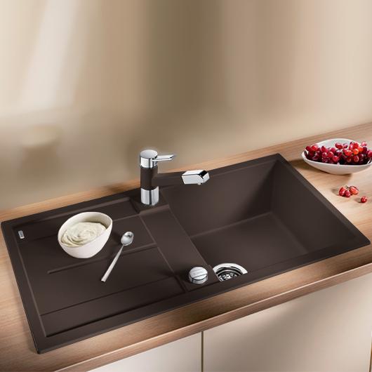 Мойка кухонная Blanco Metra 5 S 515041 (кофе, 860х500 мм)