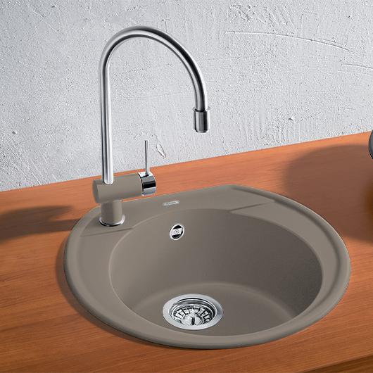 Мойка кухонная Blanco Rondoval 45 517392 (серый беж, 535х490мм)