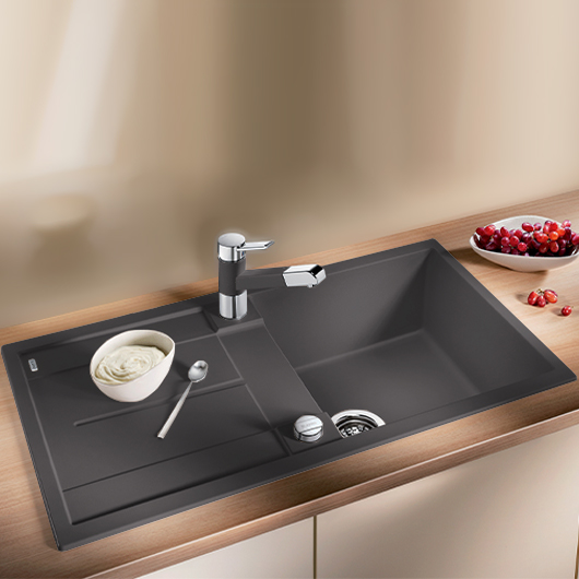 Мойка кухонная Blanco Metra 5 S 518871 (темная скала, 860х500 мм)