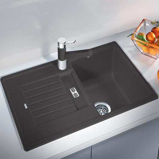 Мойка кухонная Blanco Zia 45 S 518937 (темная скала, 780х500 мм)