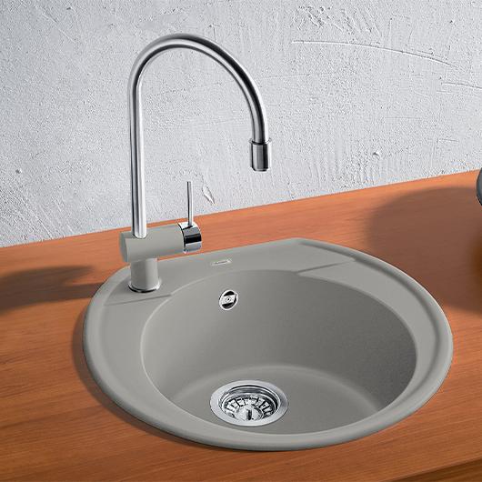 Мойка кухонная Blanco Rondoval 45 520604 (жемчужный, 535х490мм)