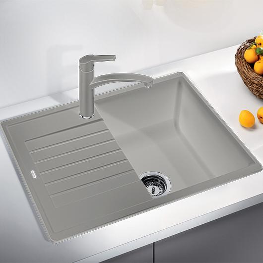 Мойка кухонная Blanco Zia 45 S Compact 524724 (жемчужный, 680х500 мм)