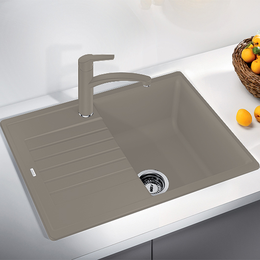 Мойка кухонная Blanco Zia 45 S Compact 524728 (серый беж, 680х500 мм)