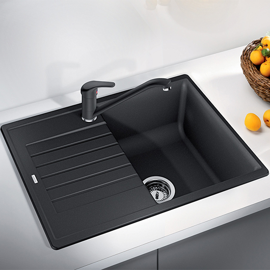 Мойка кухонная Blanco Zia 45 S Compact 526009 (черный, 680х500 мм)