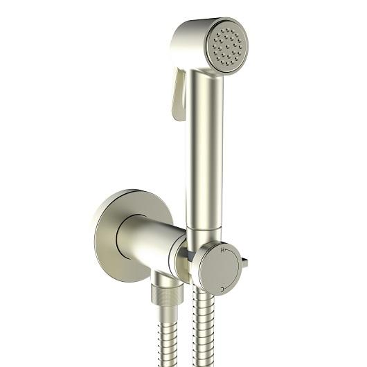 Гигиенический набор Bossini Paloma Brass Mixer Set E37005 Brushed Nickel Matt (шлифованный никель матовый)