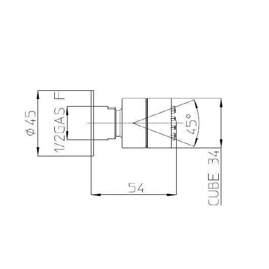 Боковая форсунка Bossini Cubic Gom I00135 CR (хром глянцевый)