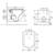 Унитаз подвесной безободковый OWL 1975 Eld Cirkel-H OWLT190101 (сиденье микролифт)