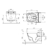 Чаша подвесного унитаза TECE TECEone 9700204 безободковая