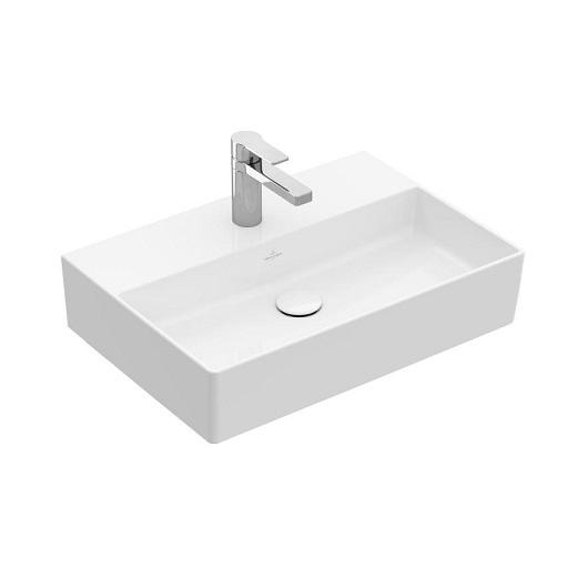 Раковина накладная Villeroy & Boch Memento 2.0 4A22 6L RW (4A226LRW) Stone White, CeramicPlus (600х420 мм)