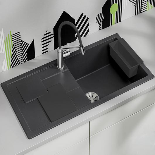 Мойка кухонная Blanco Sity XL 6 S 525048 (антрацит/лава, 1000х500 мм)