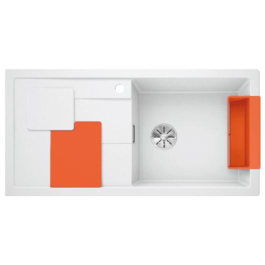Мойка кухонная Blanco Sity XL 6 S 525059 (белый/апельсин, 1000х500 мм)