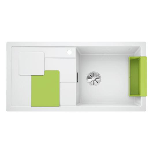 Мойка кухонная Blanco Sity XL 6 S 525063 (белый/киви, 1000х500 мм)