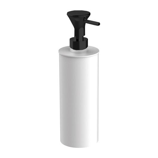 Дозатор жидкого мыла настольный Cisal Vita VI09061040 (белый матовый/черный матовый)