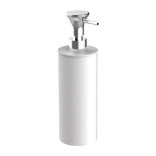 Дозатор жидкого мыла настольный Cisal Vita VI09061061 (белый матовый/хром глянцевый)