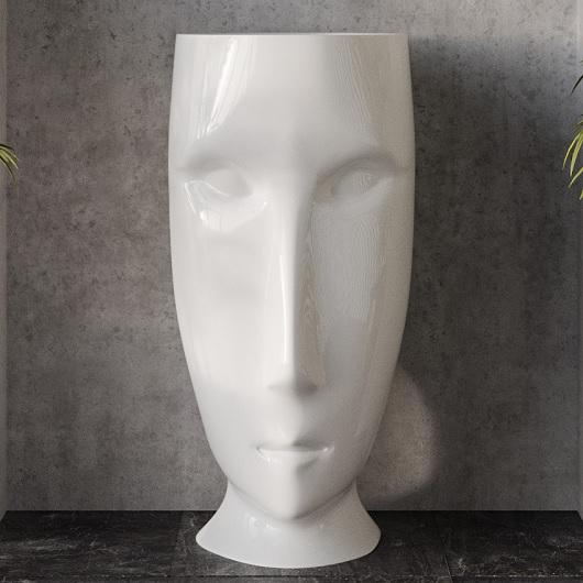 Раковина напольная Kerasan Artwork Moloco 474001 белая (выпуск в стену)