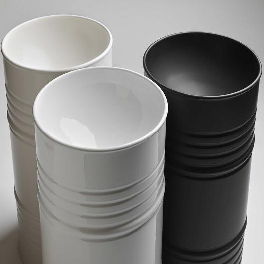 Раковина напольная Kerasan Artwork Barrel 4742K01 белая (выпуск в пол)
