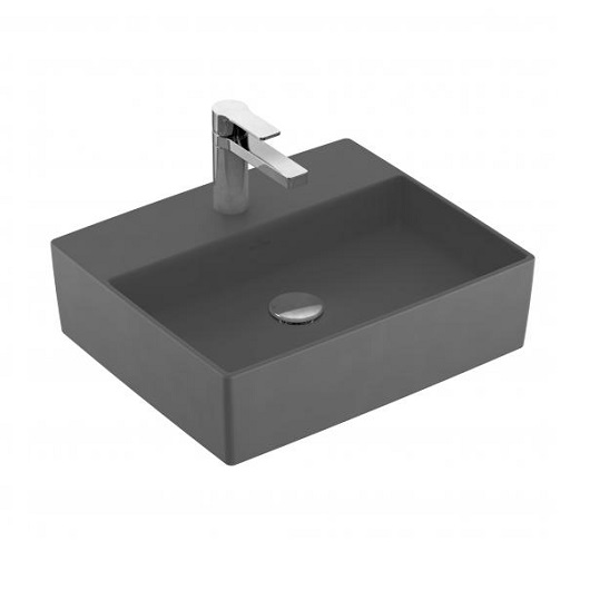 Раковина накладная Villeroy & Boch Memento 2.0 4A0751i4 (4A07 51 i4) Graphite, CeramicPlus (500х420 мм)