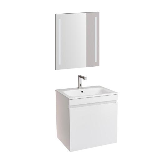Комплект мебели для ванной Geberit Renova Plan 529.915.01.6 (белый глянец, 60 см)