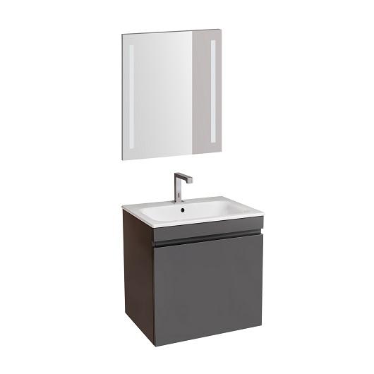 Комплект мебели для ванной Geberit Renova Plan 529.915.JK.6 (лава, матовый, 60 см)