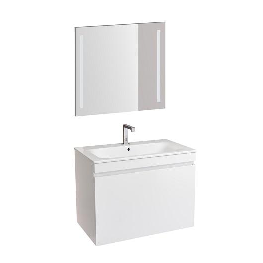 Комплект мебели для ванной Geberit Renova Plan 529.916.01.8 (белый глянец, 80 см)