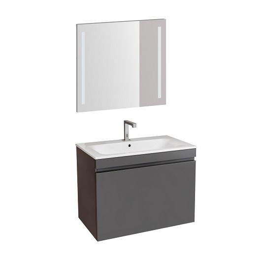 Комплект мебели для ванной Geberit Renova Plan 529.916.JK.8 (лава, матовый, 80 см)