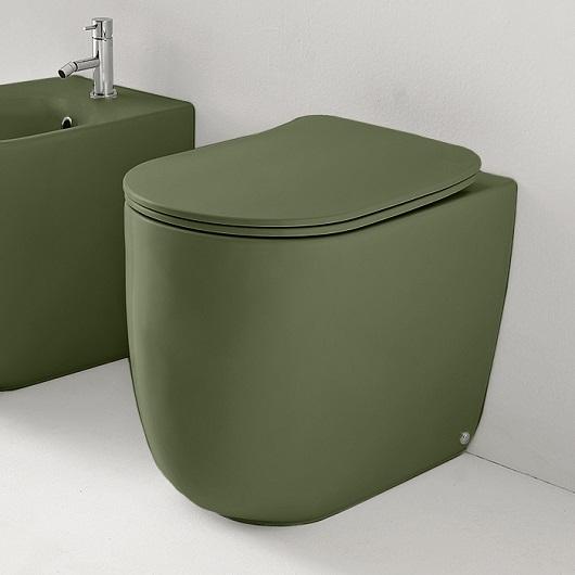Чаша приставного унитаза Kerasan Nolita NoRim 531811 Green Moss, безободковая