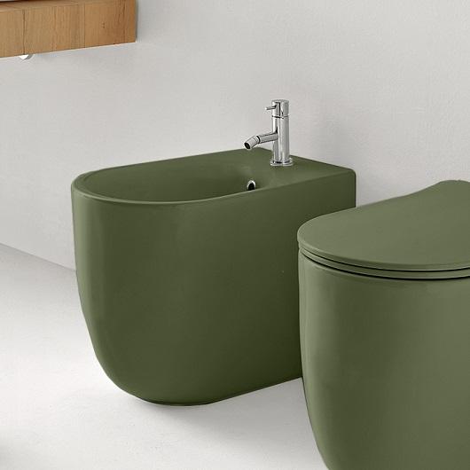 Биде напольное Kerasan Nolita 532011 Green Moss