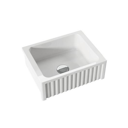 Кухонная мойка Kerasan Hannah Hampshire 546001 (600х470 мм) белая