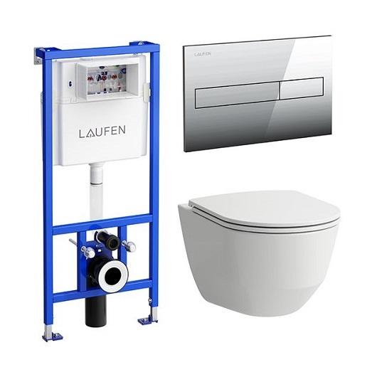 Комплект унитаз с инсталляцией Laufen Pro New 8.6996.6.000.000.R