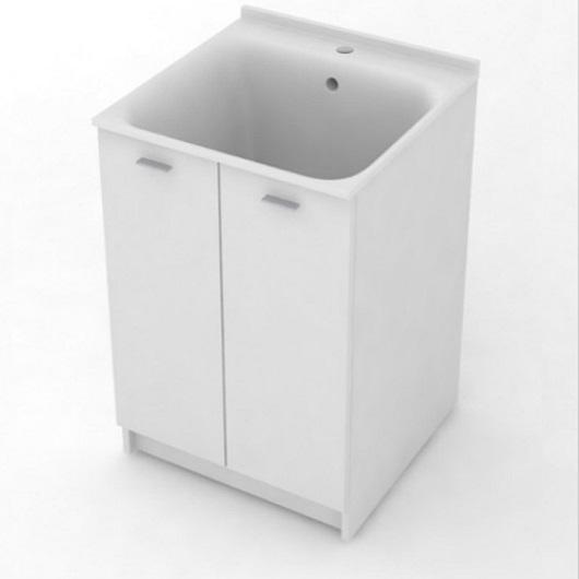 Комплект для постирочной Kerasan Aquadom 9165k3*1 (600х600х880 мм) белый матовый