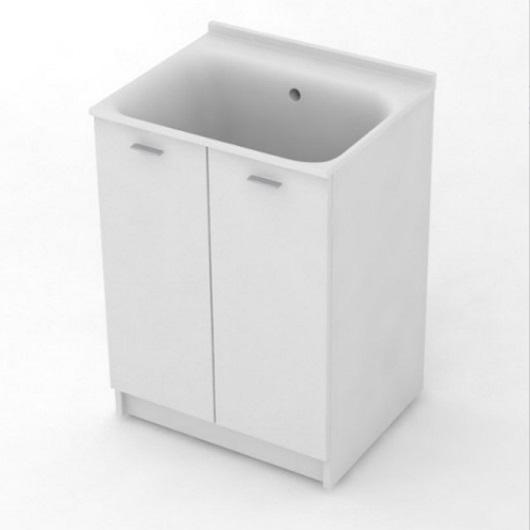 Комплект для постирочной Kerasan Aquadom 9166k3*0 (600х500х880 мм) белый матовый