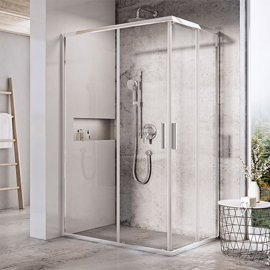 Душевая дверь для уголка Ravak Blix Slim BLSRV2K-120 X1XMG0C00Z1 (1200х1200х1950мм) профиль блестящий/стекло Transparent