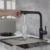 Смеситель для кухни Timo Hette 1026/03F (черный матовый)