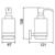 Дозатор жидкого мыла настенный Timo Selene 12039/03 (черный матовый)
