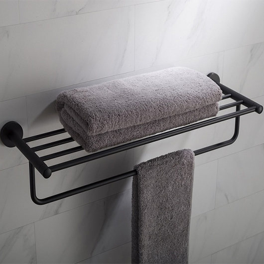 Полка для полотенец Timo Saona 13058/03 (черный матовый)
